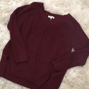 Sweaters - Burgundy knitted sweater